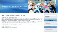 Keeping Fit with Amy Blizzard